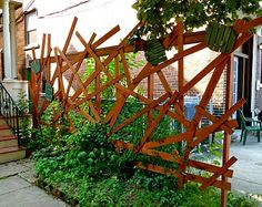 A North Pearl Street fence on Garden Walk Buffalo.