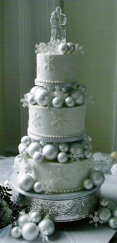 Indian Weddings Inspirations. Stunning Silver cake.