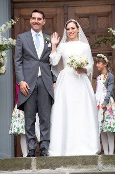 """""""Prince Nicholas and Princess Alina of Romania attend the religious ceremony of their wedding at Sfantul IIie church celebrated by his Eminence Calinic, Archbishop of Arges & Muscelle, on September 2018 in Sinaia, Romania. Romanian Royal Family, Wedding Bible, Adele, Wedding Background, Wedding Boxes, Royal Weddings, Bridesmaid Dresses, Wedding Dresses, Royalty"""