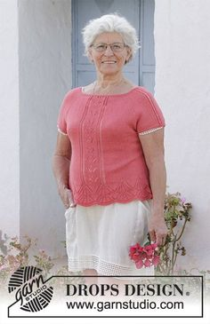 bfa74eca1ebd Miss Flora Top / DROPS 186-15 - Free knitting patterns by DROPS Design.  Gratis StickningTröjmönsterVirkmönsterDrops ...