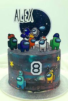 Birthday Cake Kids Boys, Mario Birthday Cake, Twin Birthday Cakes, Candy Birthday Cakes, Cake Decorating With Fondant, Birthday Cake Decorating, Cake Decorating Tips, Cake Designs For Boy, Birtday Cake