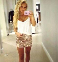 Little too short of a skirt but cute