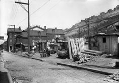 Pittsburgh PA:. The Penn Avenue and 17th Street Incline near Shantytown - the Strip District of Pittsburgh 1930.  During the depression, the...