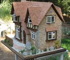 """Spinner's End Miniature Doll House - Etsy One of a Kind by artist Christina """"Bogie"""" Bougas - pic 3 of 5"""