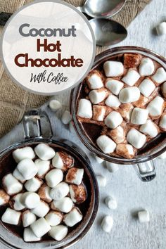 As the temperature settles and cools, it's time to whip out your pantry ingredients to create a creamy coconut hot chocolate with coffee. This recipe is dairy-free, easy, using affordable ingredients. #hotchocolate #hotcocoa #dessert #fallrecipes #winterrecipes #dessert #chocolate #cocoa #kidfriendly #plantbased #dairyfree #coconutmilk #coffee #healthy Vegetarian Chocolate, Vegan Chocolate, Chocolate Recipes, Dessert Chocolate, Fall Recipes, Whole Food Recipes, Drink Recipes, Cocoa Cinnamon