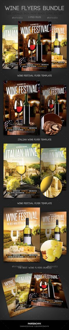 Wine Flyer Template 02 Flyer Poster Templates Pinterest