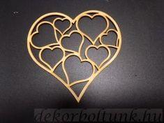 Átvágott szív szívekből 3 db/csomag, 10.2 cm széles 10 cm magas Cookie Cutters