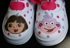 Love these sweet hand painted shoes