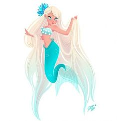 Happy first day of Mermay! 🐠 Everyday I will be posting a picture of mermaid art throughout May 🌊 Loving this light blue almost electric mermaid color 😍 ⚓ Artist: ~ ~ ~ ~ ~ ~ Mermaid Artwork, Mermaid Drawings, Mermaid Sketch, Doodle Drawing, Doodle Sketch, Character Art, Character Design, Mermaid Illustration, Mermaid Fairy