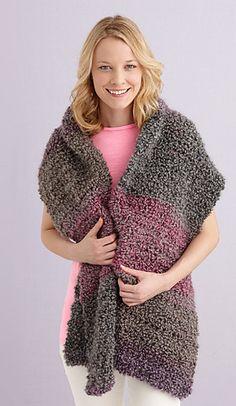 Prayer shawl, Lion Brand Homespun Thick & Quick... All half-double crochet