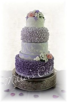 Ruffles And Lace In Dusky Purple Ombre