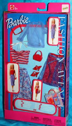 Barbie Fashion Ave Mix and Match 3 Skirts 2 Tops Heels New 8 Pieces | eBay