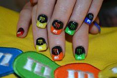 M&M nails #nailgating