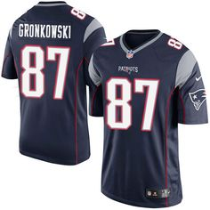 808ea1a25 Nike Limited Rob Gronkowski Navy Blue Youth Jersey - New England Patriots   87 NFL Home