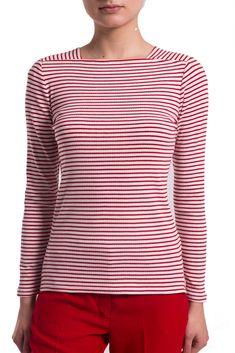 Γυναικεία ribbed ριγέ μπλούζα Esprit – 028EO1K002 – Άσπρο https   www.dress 83074b09ba1