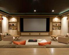 Exemplos De Decoração De Home Theaters Em Ambientes Part 41