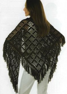 Summer shawl, free pattern diagram  . . .  ღTrish W ~ http://www.pinterest.com/trishw/  . . .   #crochet #wrap