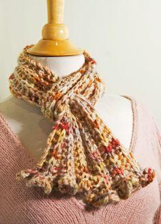 Misti Alpaca Hand Paint Chunky scarf free pattern « KnitCulture.com
