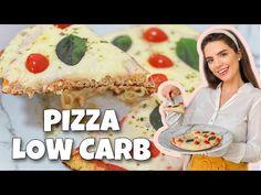 PIZZA LOW CARB EM 5 MINUTOS!   RECEITA FÁCIL E BARATA! - YouTube Pizza, Low Carb, Bread, Cake, Youtube, Desserts, Food, Almond Meal, Cauliflowers