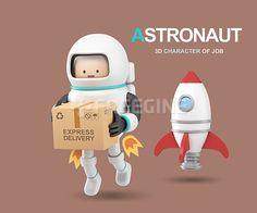 사람, 우주, 오브젝트, 그래픽, 우주인, freegine, 3D, 로켓, 배달, 캐릭터, 직업캐릭터, 에프지아이, FGI, FUS076, 3d직업캐릭터II017, fus076_017 #유토이미지 #프리진 #utoimage #freegine 17745004