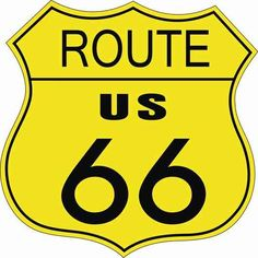 3269 - ROADSIDE - ROUTE 66 - US - Sign - amarelo - 29x29-