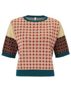 Multi Print Intarsia Knit Top   Antonio Marras   Avenue32 #newseasonlustlist #fashion