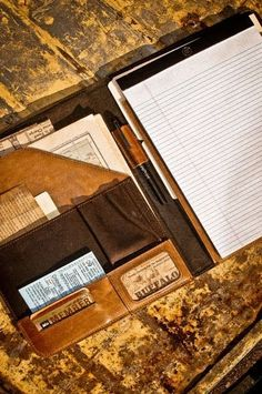 Leather Handcrafted Padfolio Planner for Men - Travel, Portfolio and Business — great Father's Day gift idea