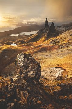 The old man of storr is a very well traveled tourist destination on the isle of Skye. Images such as this help to bolster the beauty of Scotland
