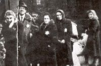 Jews being brought to Kosice, Czechoslovakia from surrounding villages on April 17