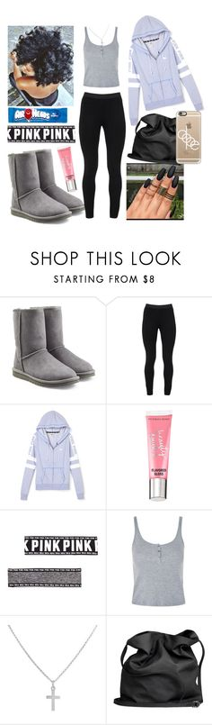 """Lavender"" by azariaaaaaa ❤ liked on Polyvore featuring UGG Australia, Peace of Cloth, Victoria's Secret, Topshop, Sterling Essentials, Ann Demeulemeester and Casetify"