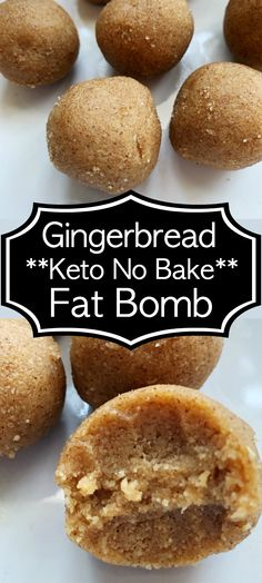 keto no back gingerbread fat bomb isn't just for holidays. this is a perfect fat bomb for a #ketogenicdiet year round. Add this no keto bake fat bomb to your low carb diet today.
