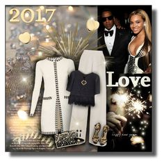"""""""Happy New Year Casual Dinner Party"""" by helenehrenhofer ❤ liked on Polyvore featuring Sweet Sentiments, Diane Von Furstenberg, Nicole Coste, French Connection, Karl Lagerfeld, Cartier, Trilogy, Susan Sadler, Beyonce and NewYearsEve"""