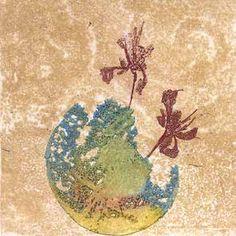 Anna Maija Bergman – Tuulipolku, Finland Once upon Lucky Flovers, copy-eaching, softground, drypoint 9,5x9,7 cm