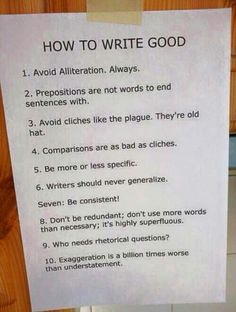 Too bad only people who already know these rules will take the time to read this. :)