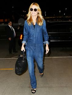How to Channel '70s Vibes Like Heidi Klum via @WhoWhatWear
