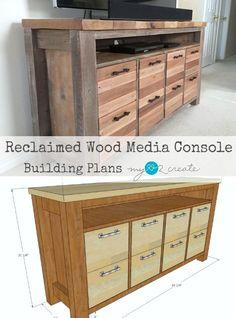 Reclaimed Wood Media Console | My Love 2 Create