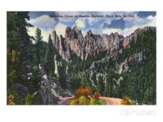 Black Hills, South Dakota, Needles Highway View of Horseshoe Curve Posters at AllPosters.com