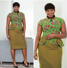 2019 Most Beautiful Ankara skirt And Blouse Styles You Should Rock Latest African Fashion Dresses, African Dresses For Women, African Print Dresses, African Print Fashion, African Attire, African Wear, African Women, African Clothes, African Prints
