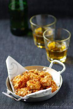 Un dejeuner de soleil: Nuggets de poulet aux corn flakes, tandoori et moutarde Amora