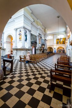 Interiors of the Church of Our Lady of Loreto, Warsaw, Poland
