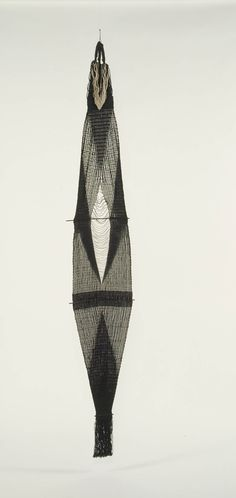Lenore Tawney, Black Woven Form (Fountain), 1966