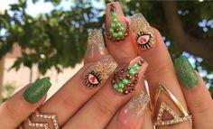 Fingernails Painted, Nail Art Designs, Acrylic Nails, Diamond Earrings, Painting, Jewelry, Toenails Painted, Polish Nails, Jewlery