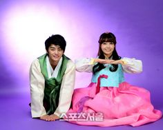 'Reply 1997′s Seo In Guk and A Pink's Eunji look like a cute couple in hanbok's for Chuseok