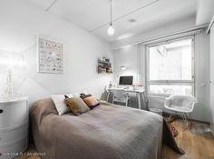Myytävät asunnot, Teollisuuskatu 3, Helsinki #oikotieasunnot #makuuhuone #bedroom