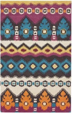 Courtney Moderne Ikat Multi Contemporary Rug