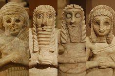 Mesopotamian Mosaic Sumerian statues