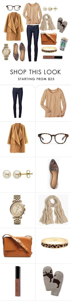 """""""Shopping"""" by pinkngreennblack ❤ liked on Polyvore featuring Naked & Famous, Madewell, Lord & Taylor, J.Crew, FOSSIL, Vince, Bobbi Brown Cosmetics and Aqua"""