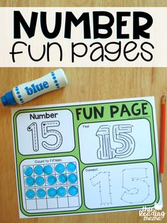 1-20 Number Fun Pages {FREE} - This Reading Mama