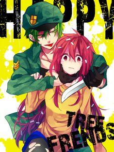 anime happy tree friends   flaky   flippy   flippy and flaky   anime