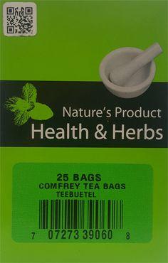Natures Product Health & Herbs Comfrey Tea Bags Teebuetel 25 Bags